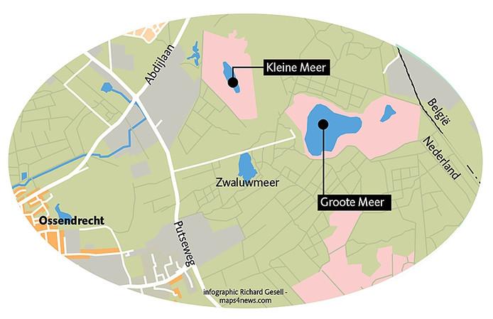 Groote en Kleine Meer bij Ossendrecht. Infographic Richard Gesell