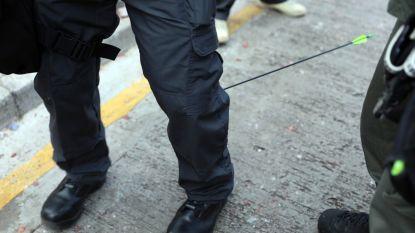 Protest Hongkong nu zelfs uitgevochten met pijl en boog