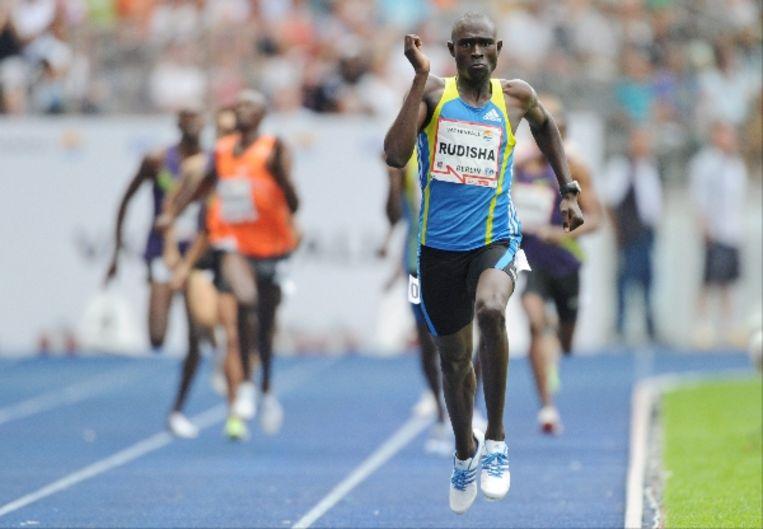 David Lekuta Rudisha tijdens de 800 meter in Berlijn. (EPA) Beeld EPA