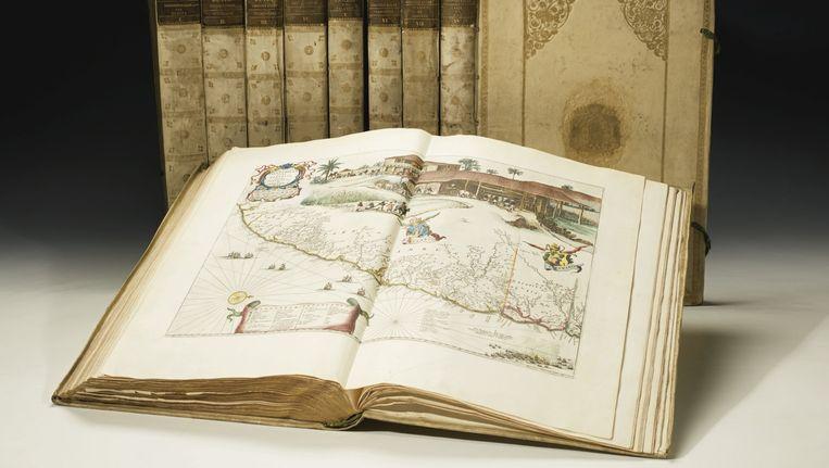 De atlas van Blaeu die onder de hamer gaat. Beeld Sotheby's