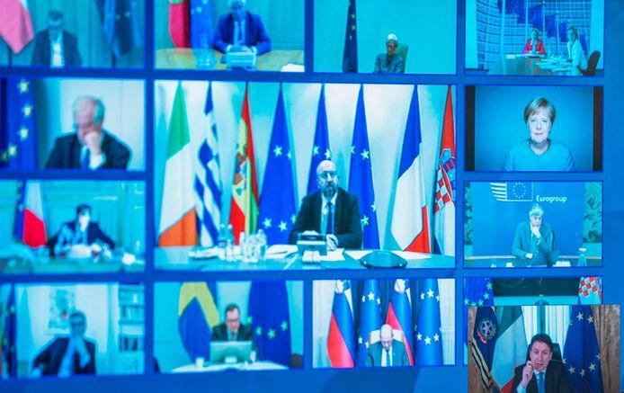 Sommet européen en visioconférence sur le coronavirus (26 mars)