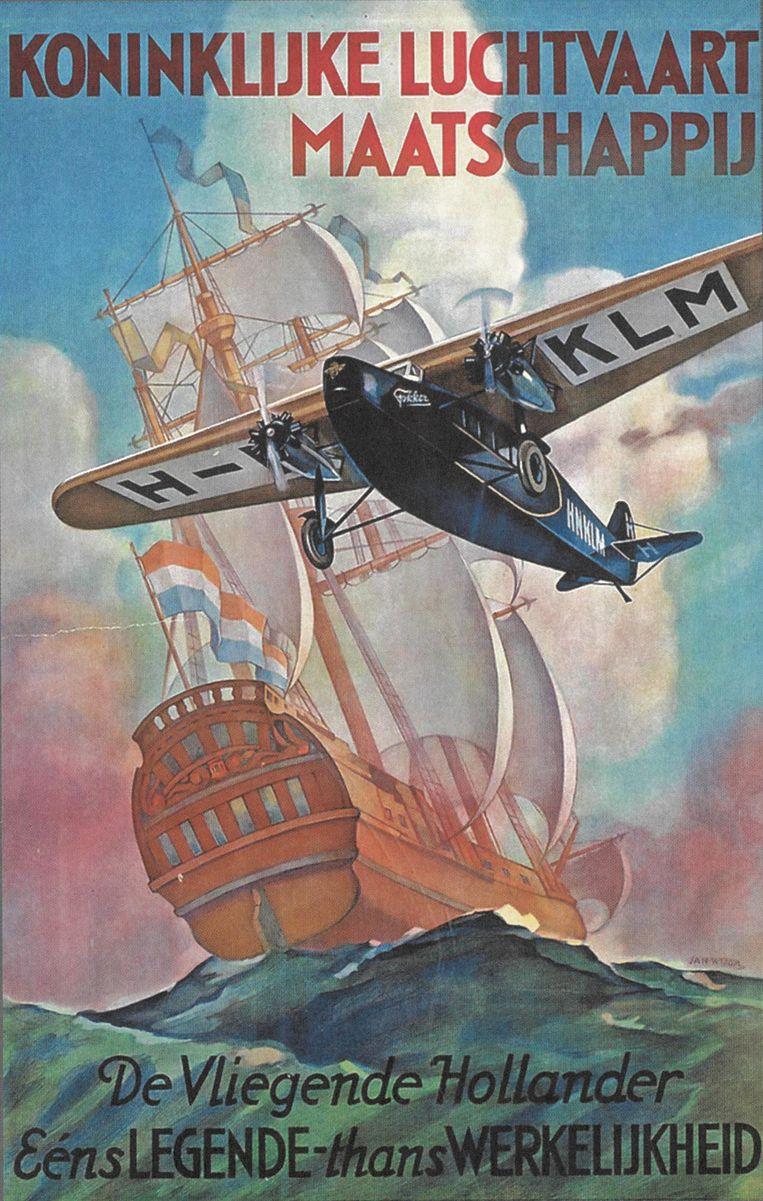 KLM en Fokker, legendarische en ijzersterke tandem. Beeld Blue Skies - Orange Wings The Globel reach of dutch Aviation in War and Peace