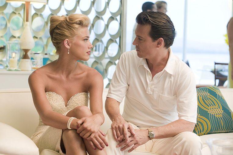 Johnny Depp en Amber Heard ontmoetten elkaar op de set van 'The Rum Diary'.