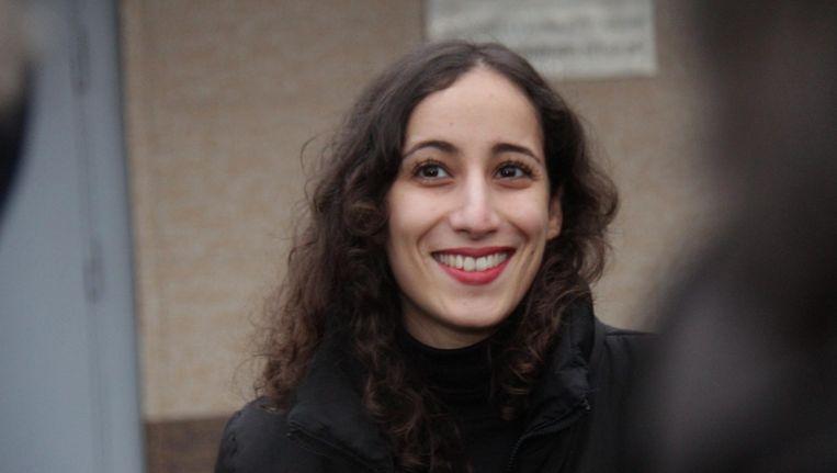 Greenpeace-activiste Faiza Oulahsen (27) scoorde bij de jury van de zesde Duurzame 100 het hoogst op charisma. Beeld EPA