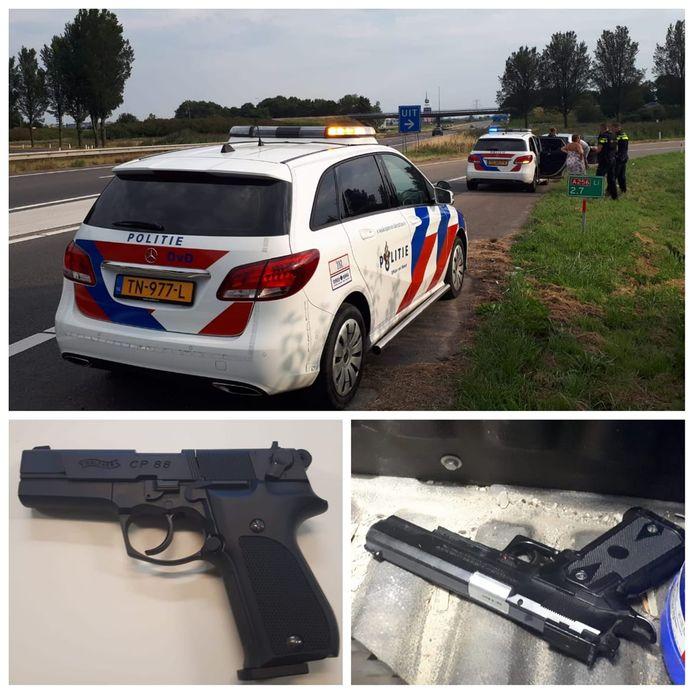 De politie hield dit weekend al twee verdachten aan voor het bezit van een 'vuurwapen'.