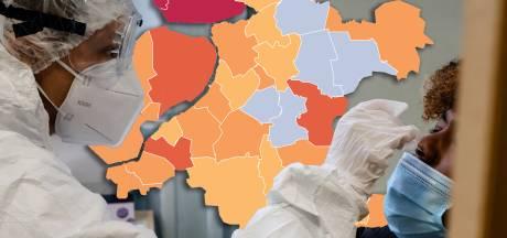 KAART I Na Urk kleurt ook Noordoostpolder donkerrood, Flevoland net niet slechtste veiligheidsregio van het land