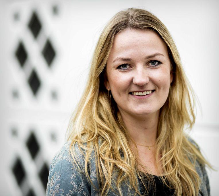Paula Schot (24), de lijsttrekker van de SGP in Amsterdam bij de afgelopen gemeenteraadsverkiezingen Beeld ANP