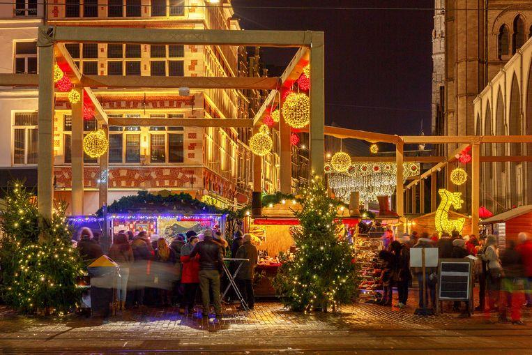 Een feeërieke kerstsfeer in Gent.