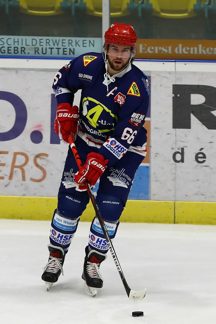 Devils-speler Nick de Jong op archiefbeeld. Hij scoorde voor Nijmegen Devils.