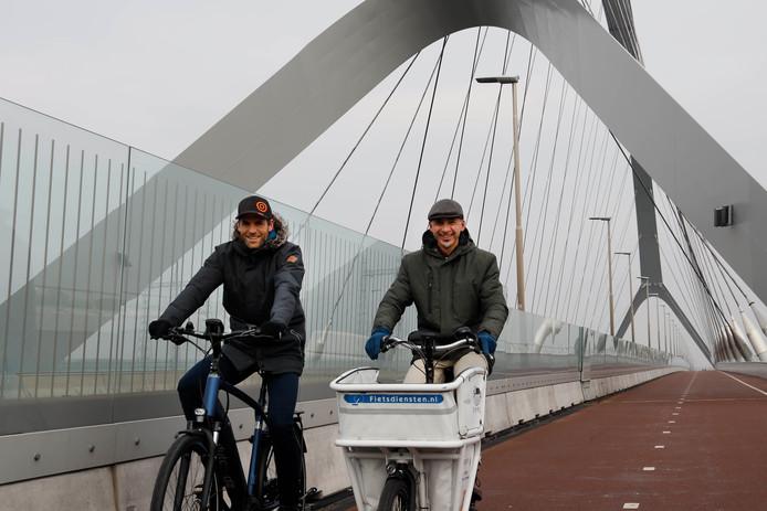 Joppe van Stiphout (l) en Jos Sluijsmans gaan met Rutte op handelsmissie in Colombia om Colombianen over te halen op de fiets te stappen.