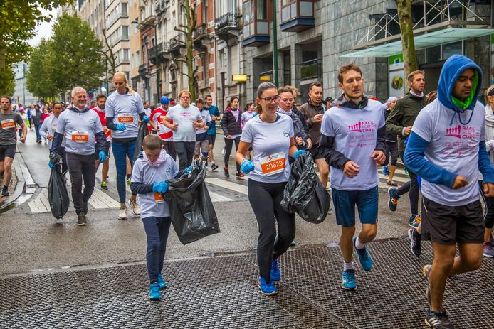 Ploggen tijdens de Brussels Airport Marathon & Half Marathonfoto: Kane Demeulemeester