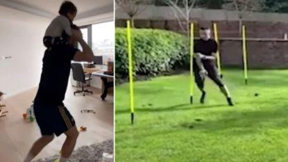 Van de fitness tot een opmerkelijke assistent: ook City-spelers houden zich thuis fit
