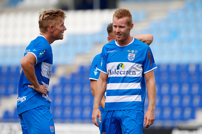 Zian Flemming en Mike van Duinen, aanwinsten bij PEC Zwolle.