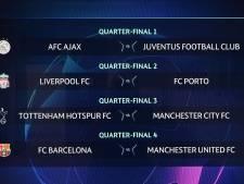Ajax loot Juventus in kwartfinale Champions League, Liverpool treft Porto