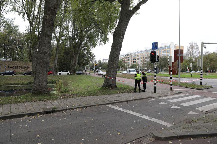 Een gedeelte van de Wijndaelersingel werd afgezet vanwege de vondst van de Granaat.
