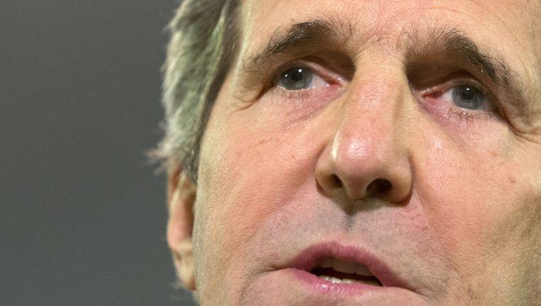 De Amerikaanse minister van buitenlandse zaken John Kerry zegt dat hij het woord 'apartheidsstaat' beter had kunnen vermijden. Beeld ap