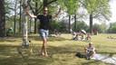 Zelfs koorddansen kun je in het park leren.