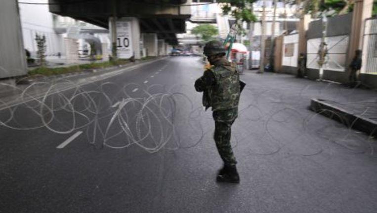 Enkele reizen waarin een bezoek aan Bangkok is opgenomen zijn geannuleerd nadat het ministerie van Buitenlandse Zaken zondag alle reizen naar de Thaise hoofdstad had ontraden. Foto AP Beeld