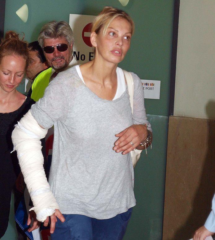 Talitha van Zon bij haar terugkeer uit Libië in 2011.