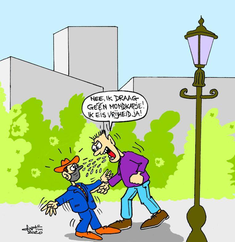 Cartoon van lezer Martin Reekers uit Rotterdam. Beeld Martin Reekers