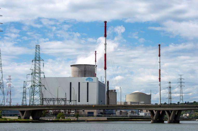 De kerncentrale van Tihange, een deelgemeente van de stad Hoei (provincie Luik).