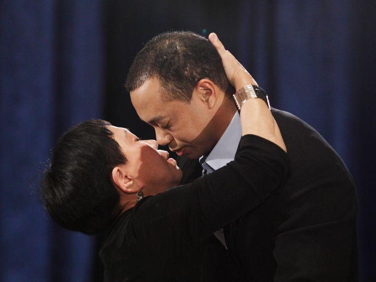 Kultida Woods innig met haar zoon Tiger.