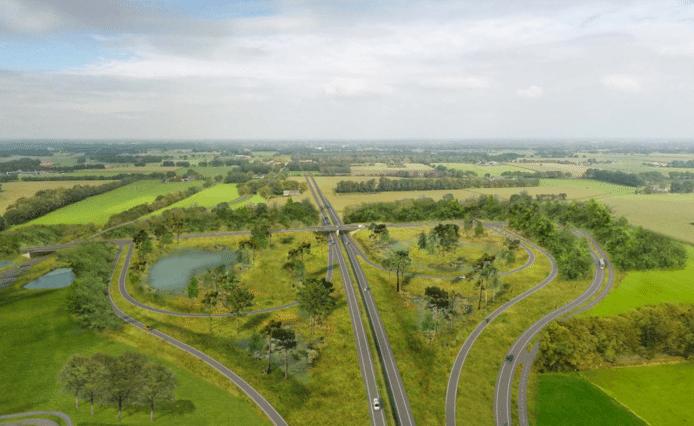 Een impressie van de nieuwe N18, de verbinding tussen de Achterhoek en Twente.