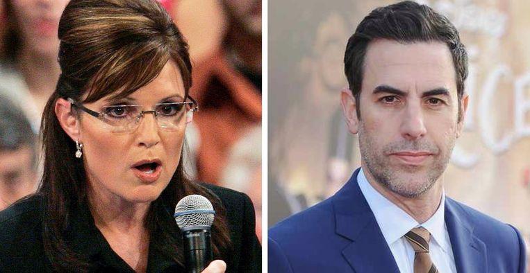 Politica Sarah Palin woedend en Sacha Baron Cohen.