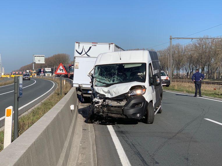 Het ongeval gebeurde in de Alfred Ronsestraat.