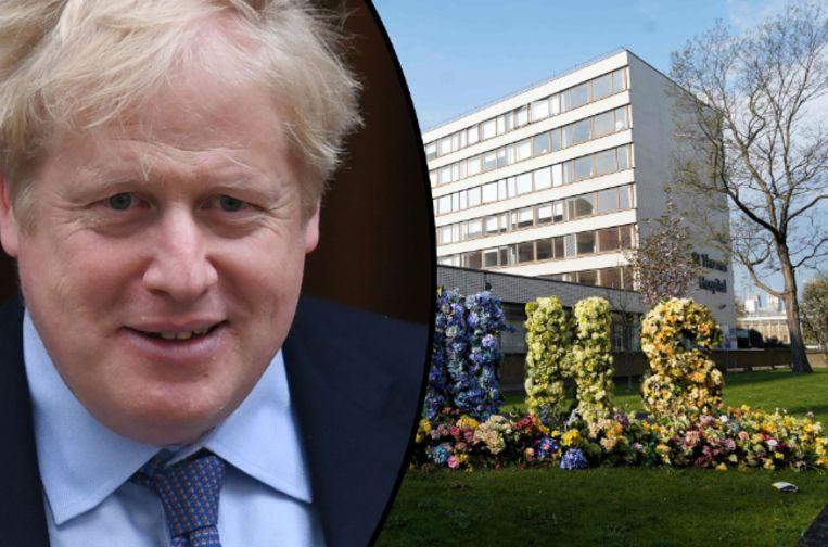Boris Johnson werd vorige week zondag opgenomen in het St Thomas' ziekenhuis in Londen. Een dag later belandde hij op intensieve zorg.
