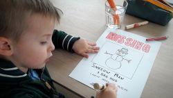 Schattig opsporingsbericht: kind zoekt sneeuwman