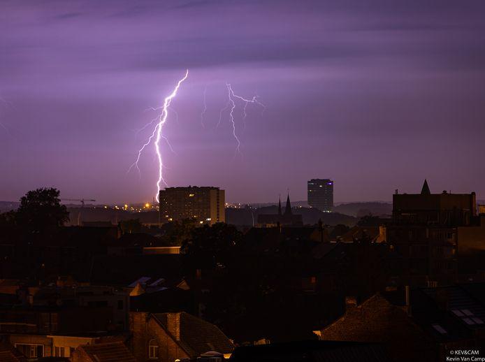 Bliksem boven Leuven