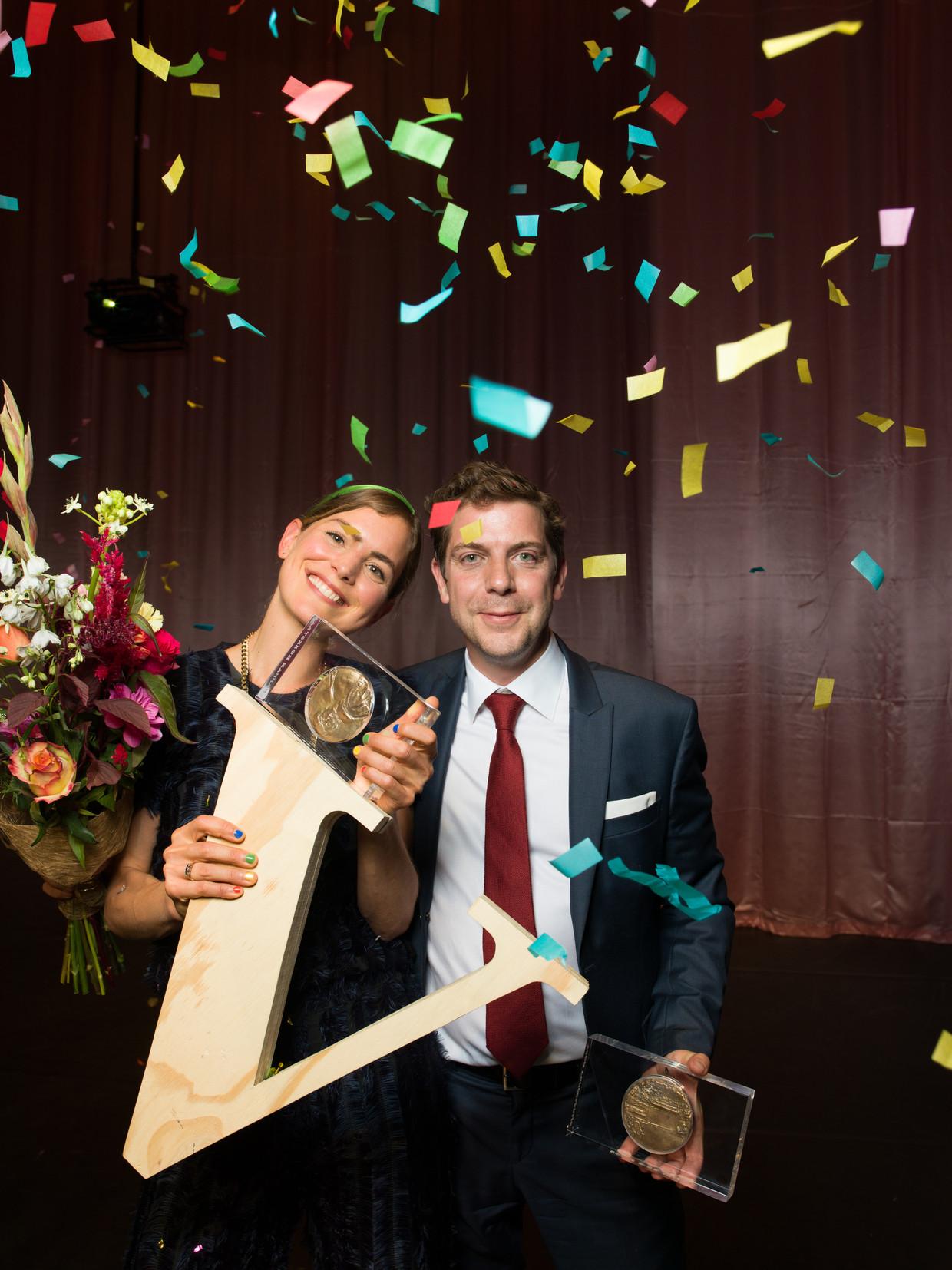 Winnaars Hannah Hoekstra en Ramsey Nasr.