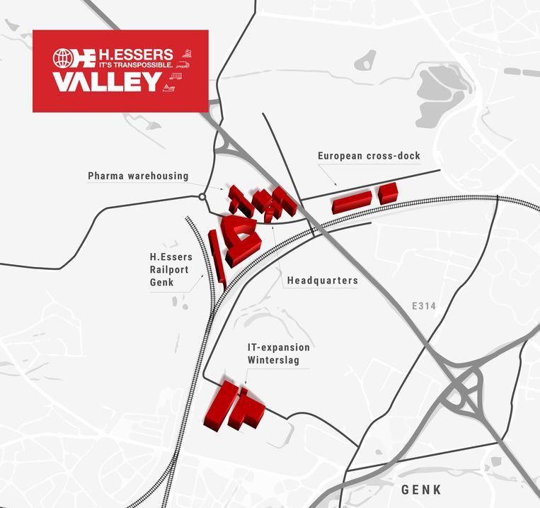 Verdere uitbouw sites Essers in Genk