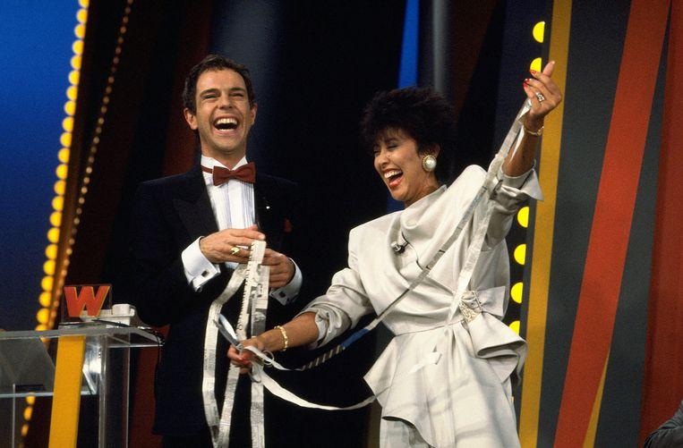 Jos Brink en Sandra Reemer in het jaren 80 televisieprogramma Wedden dat...? Beeld anp