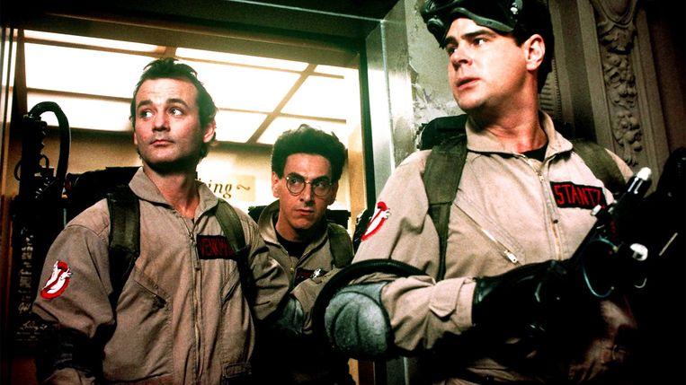 Bill Murray, Harold Ramis en Dan Aykroyd in Ghostbusters van Ivan Reitman Beeld