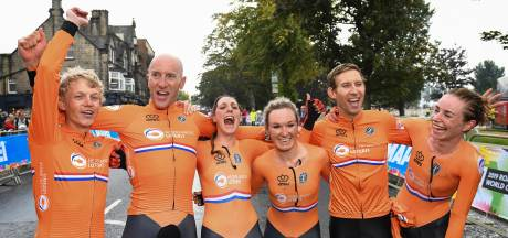 Oranje opent WK wielrennen met goud op mixed team relay