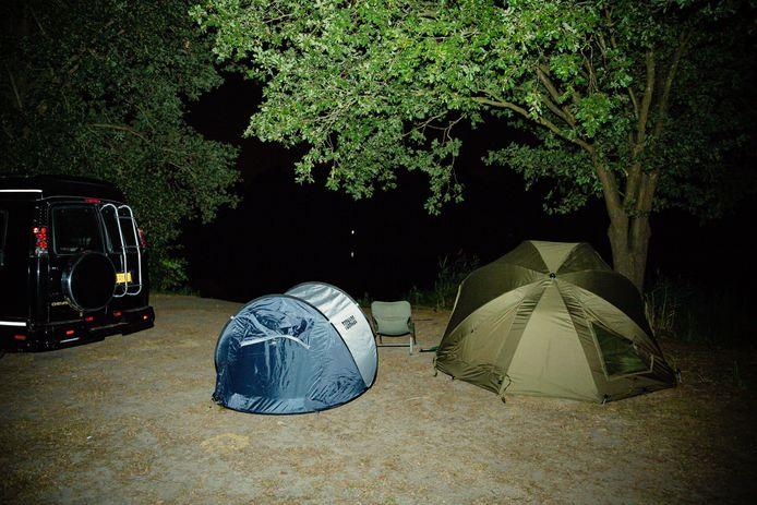 De tenten in Beekse Bergen.