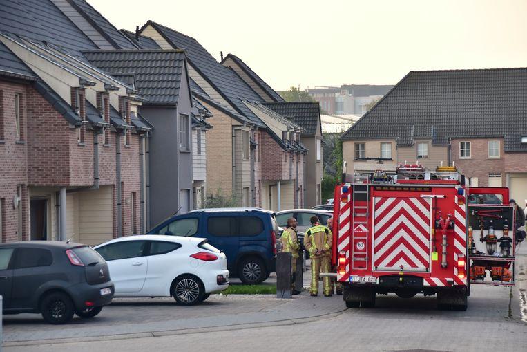 De brandweer kreeg de situatie in de Gaston Vallaeysstraat in Rumbeke snel onder controle.