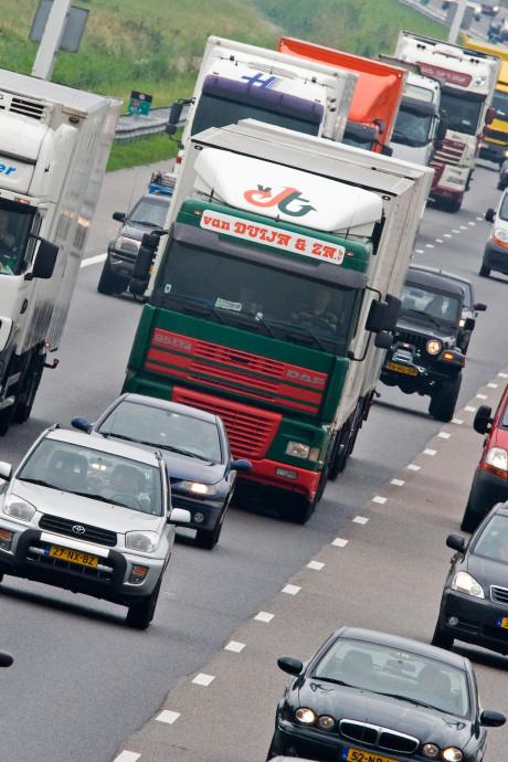 Rapport transportbranche: Fileschade voor vrachtverkeer bedroeg vorig jaar 1,4 miljard