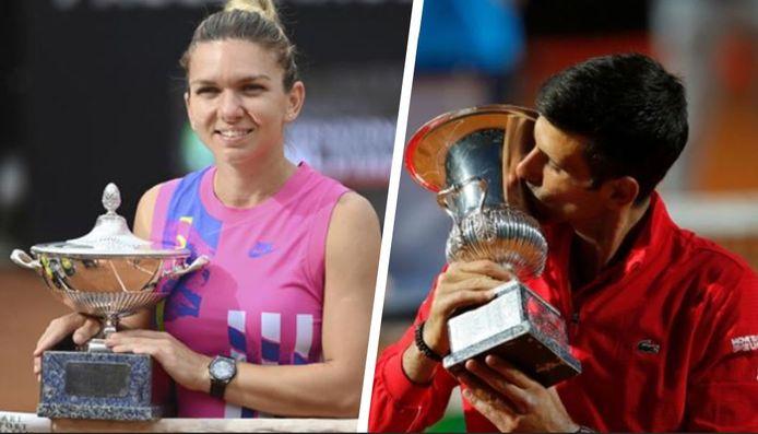 Halep en Djokovic.