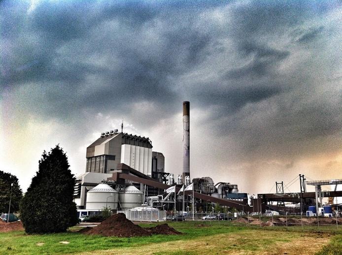 De energiecentrale van GDF Suez in Nijmegen.