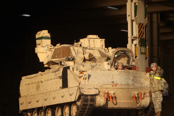 Het type pantserwagen dat tijdens een ongeval op een Amerikaanse legerbasis het leven kostte aan drie soldaten.