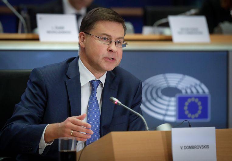 De Letse politicus Valdis Dombrovskis.