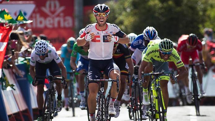 Jonas van Genechten wint zevende etappe Vueltat in augustus 2016.