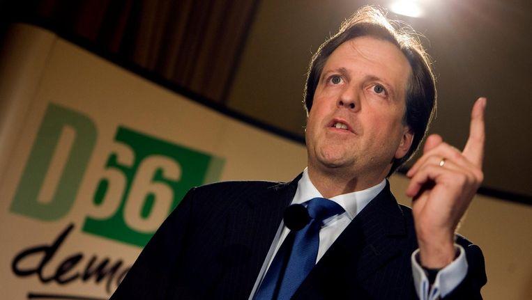 Alexander Pechtold in 2006, als de nieuwe lijsttrekker van D66. Beeld anp