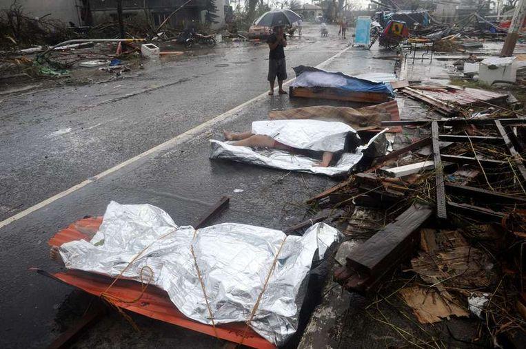 Tacloban, zondag. Beeld afp