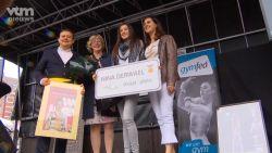 """Sint-Truiden huldigt wereldkampioene Nina Derwael: """"Blij om te zien dat het hier zo hard heeft geleefd"""""""