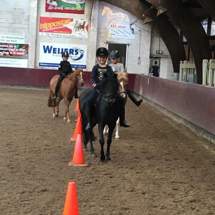Op de Open Manegedag mag er bij ruitersportcentrum De Drie Linden in Zeeland ook een ritje op de pony worden gemaakt.