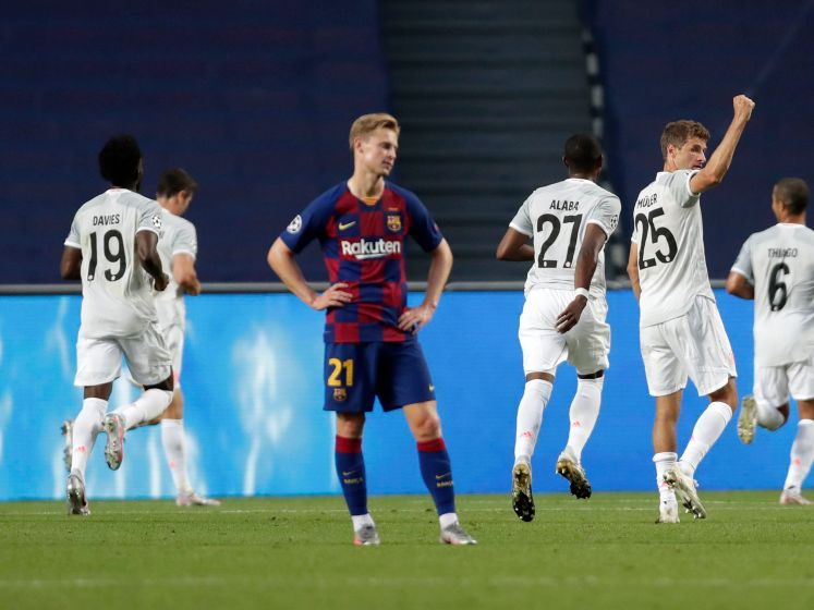 Bekijk hier de historische 8-2 nederlaag van Barça tegen Bayern